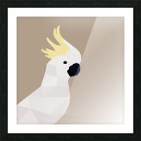 COCKATOO BIRD LOW POLY ART Picture Frame print