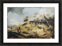 Sandbank with Travellers Picture Frame print