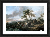 Halt of a Hunting Party Picture Frame print