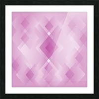 Diamond Shape Pink Art Picture Frame print
