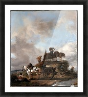 Peasants in the Fields Picture Frame print