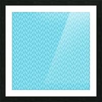 Blue Leaf pattern Art Picture Frame print