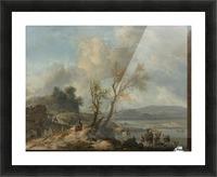 Landschap met zandweg Picture Frame print