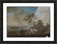 Paardenwed bij een rivier Picture Frame print