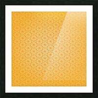 Orange Seamless Pattern Art Picture Frame print