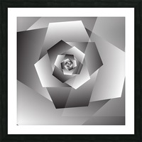 Monochrome Rose Art Picture Frame print