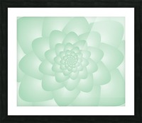 Pastel Green Art Picture Frame print