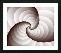 Spirally Picture Frame print