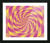 Lollipop Swirl Art Picture Frame print