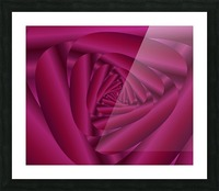 Pink Color Rose Swirl Art Picture Frame print