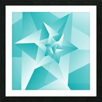 Bluish Trendy Triangle Art Picture Frame print