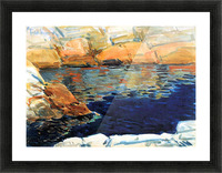Beryl look at the pond by Hassam Picture Frame print