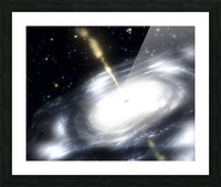 A rare galaxy that is extremely dusty and produces radio jets Picture Frame print