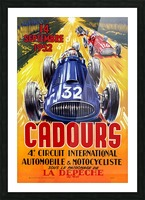 Cadours 4th Circut International 1952 Picture Frame print
