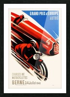 Berne Grand Prix d'Europe Autos 1948 Picture Frame print
