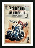 Marseille 2nd Grand Prix Automobile International 1947 Picture Frame print