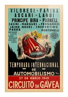 Gavea Circuit Circuito Gavea 1949 Temporada Internacional De Automobilisimo 1949 Picture Frame print