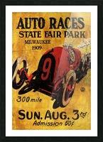 Milwaukee 300 Mile Auto Races State Fair Park 1909 Impression et Cadre photo