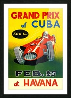 Cuba Grand Prix Havana 1958 Picture Frame print