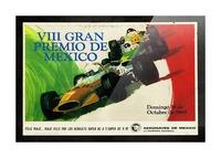 Mexico Grand Prix VII Gran Premio De Mexico 1969 Picture Frame print