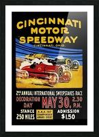 CincIInnati Motor Speedway 2nd Annual International Sweepstakes Race 1917 Picture Frame print