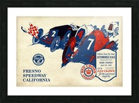 California Raisin Day Classic Automobile Race Championship Event Fresno Speedway 1923 Picture Frame print
