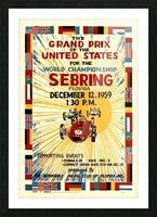 Sebring Us Grand Prix World Championship 1959 Picture Frame print
