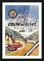 Coupe Des Alpes Federation Francaise Des Sports Automobiles 1963 Picture Frame print
