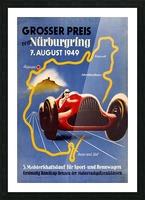 German Grand Prix Grosser Preis Vom Nurburgring 1949 Picture Frame print