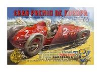 Gran Premio De Europa VII Espana XII Pena Rin IX Barcelona 1953 Impression et Cadre photo