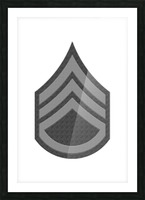 Staff Sergeant Picture Frame print