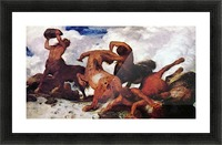 Centaurs by Arnold Bocklin Picture Frame print