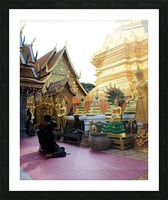 Praying at Doi Suthep Picture Frame print