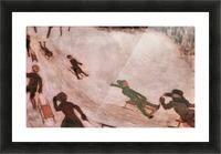Children sledding by Franz von Stuck Picture Frame print