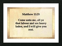 Matthew 11 28 Picture Frame print