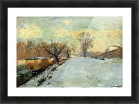 The Seine in Winter Picture Frame print