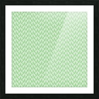 Green Flower Seamless Pattern Background Picture Frame print