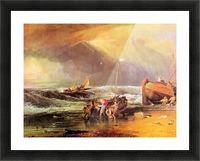 Coastal scene with fishermen by Joseph Mallord Turner Picture Frame print