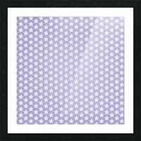 Purple Star Pattern Picture Frame print