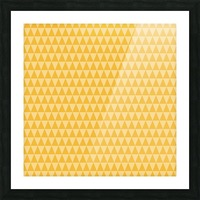 YELLOW Triangle Shape Seamless Pattern Background   Picture Frame print