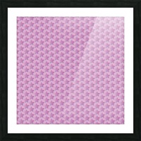 Pink Star Pattern Picture Frame print