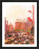 Broadway and Fifth Avenue by Hassam Picture Frame print