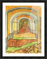 Corridor in Saint-Paul Hospital by Van Gogh Picture Frame print