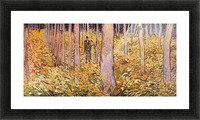 Couple walk in the woods by Van Gogh Picture Frame print