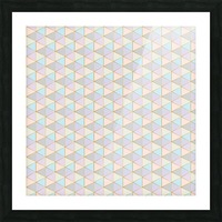 Hexagon Color Art Pattern Picture Frame print