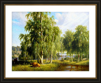 Beautiful Summer Day In The Farm_OSG Picture Frame print