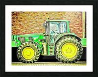 farming equipment Picture Frame print