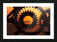 Morning ride Picture Frame print