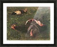 Dead Frenchmen by Albin Egger-Lienz Picture Frame print