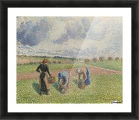 Peasants Gathering Herbs, Eragny Picture Frame print